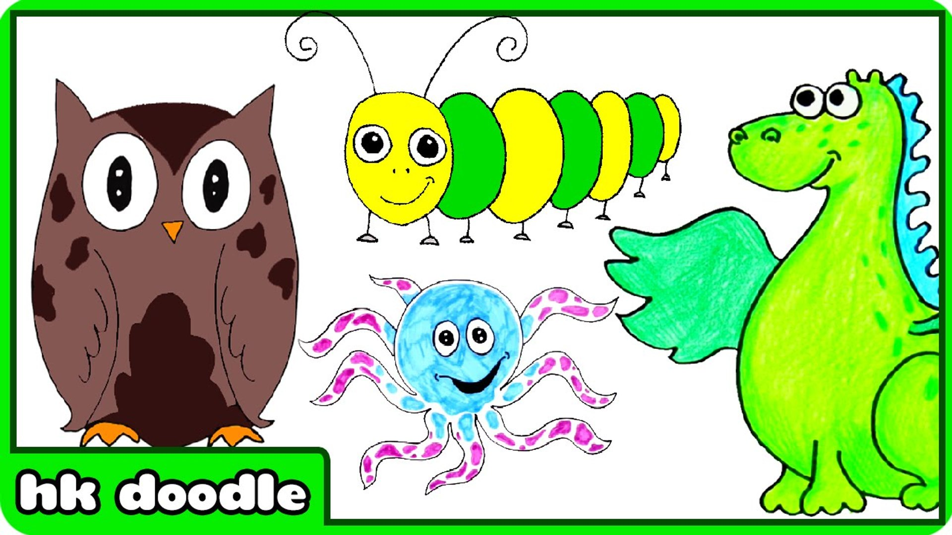 Easy Animal Drawings For Kids - Step By Step Drawing Tutorials For Beginners