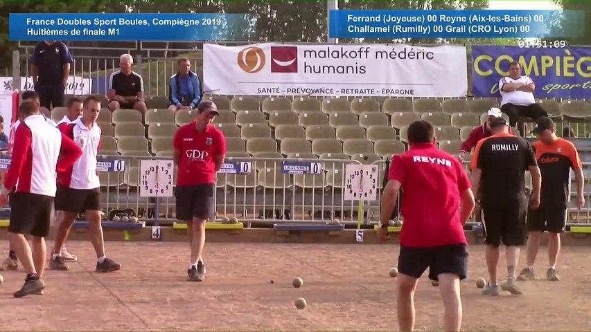 Huitièmes de finale M1, France Doubles, Compiègne 2019