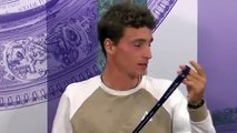 """Wimbledon 2019 - When Ugo Humbert tries to answer the question in English : """"It will be fun !"""""""