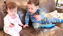 Funny Fails - Siblings Baby Playing Together