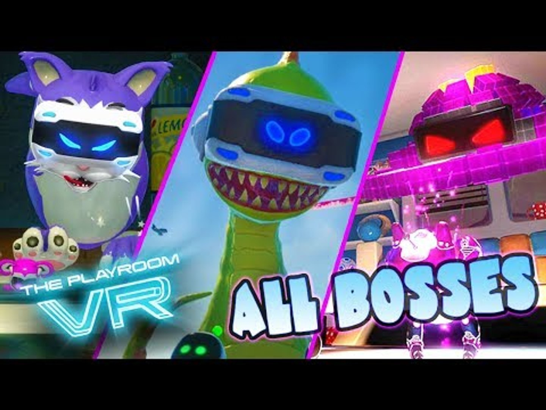 The Playroom VR ALL BOSSES + DLC Boss (PS4)