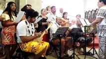 Vidéo. La musique de Wallis et Futuna ouvre la messe traditionnelle à l'église de Bellefontaine