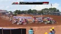 Evans & Harrison Crash - MX2 Race 1 Start - MXGP of Indonesia 2019