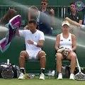 Le système d'arrosage automatique s'allume en plein match (Wimbledon)