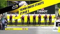 Départ du Team Ineos / Team Ineos Starts - Étape 2 / Stage 2 - Tour de France 2019