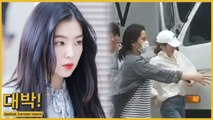 Red Velvet Irene bumped in truck's side mirror while escaping photographers [VIDEO]