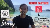 FOLGE 7 : NEUER PARTNER Airbnb - für Awareness Cycling Tour