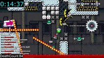Guy spends 60 hours and over 32k attempts in order to pass an insanely hard Super Mario Maker level he made.