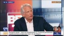 """Dominique de Villepin sur le nucléaire iranien: """"le rôle de l'Europe, c'est de faire évoluer les positions"""" des États-Unis et de l'Iran"""