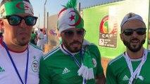 Fans algériens avant le match face à la Guinée