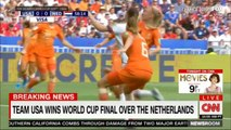 Team USA wins World Cup final over The Netherlands. #WorldCup #USA #Breaking