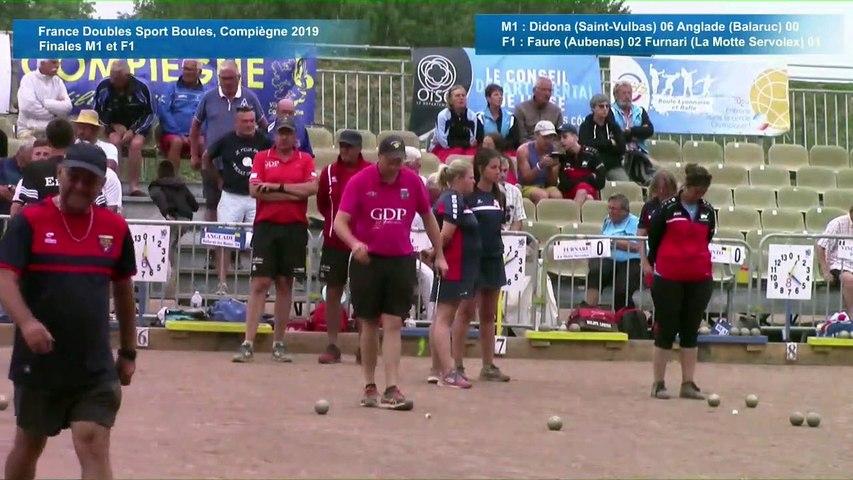 Finales F1 et M1, France Doubles, Compiègne 2019