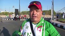 Fans gather ahead of Algeria and Guinea in the AFCON round of 16