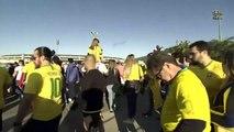 Peru and Brazil fans arrive at Maracana Stadium ahead Copa America final