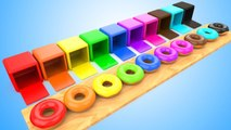 Unboxing Color Donuts   Learning Colors for Children Kids Toddlers Fun Learning Colors Educational