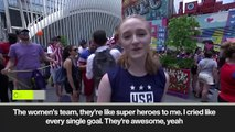 (Subtitled) 'Not many things to be proud of in USA right now but......' Fans in NY celebrate WWC triumph
