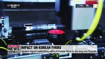 Japan's export restrictions will hurt Korean firms in the long run: Experts