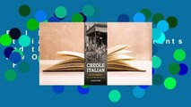 Full E-book Creole Italian: Sicilian Immigrants and the Shaping of New Orleans Food Culture  For