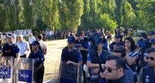 """ODTÜ'de öğrencilerin """"yurt"""" protestolarına polis ekipleri müdahale etti! Ağaç kesimi başladı"""