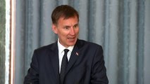 Hunt: 'I don't agree with some views in those letters'