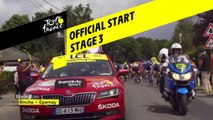 Départ Officiel / Official Start - Étape 3 / Stage 3 - Tour de France 2019