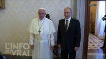 Poutine chez le Pape - L'Info du Vrai du 05/07 - CANAL+