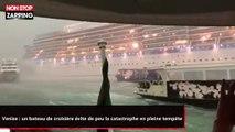 Venise : un bateau de croisière évite de peu la catastrophe en pleine tempête (vidéo)