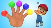 Finger Family Nursery Rhymes - Little Baby 3D Soccer Balls Finger Family Rhymes for Kids Toddlers