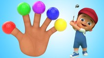Finger Family Nursery Rhymes - Little Baby 3D Soccer Balls Finger Family Rhymes for Kids Toddlers