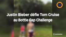 Justin bieber défie Tom cruise au Bottle cap challenge