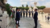 Roma - Bonafede allAltare della Patria per gli onori ai caduti della Polizia Penitenziaria (08.07.19)