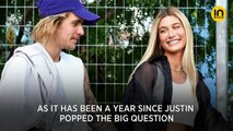 Hailey Bieber marks one year since Justin Bieber popped the question with a sweet post