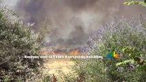 Πλάνα και δηλώσεις για τη φωτιά στο Καστρι