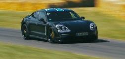 VÍDEO: Un Porsche Taycan, casi definitivo, se pasea por Goodwood 2019