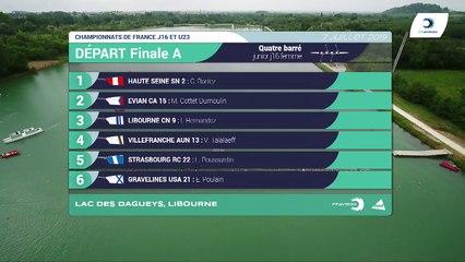 Championnat de France J16 Bateaux longs Libourne 2019 - Finale du quatre barré femmes-J16F4+