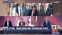 Lyon: Macron ne tranche pas