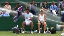 L'arrosage automatique de Wimbledon s'emballe en plein match