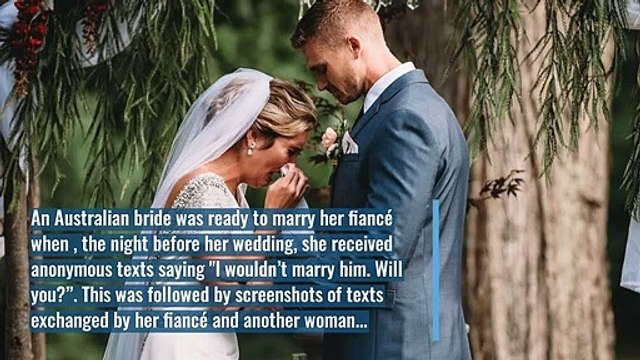 Instead of Exchanging Vows, This Bride Reads Her Fiancé's Cheating Texts