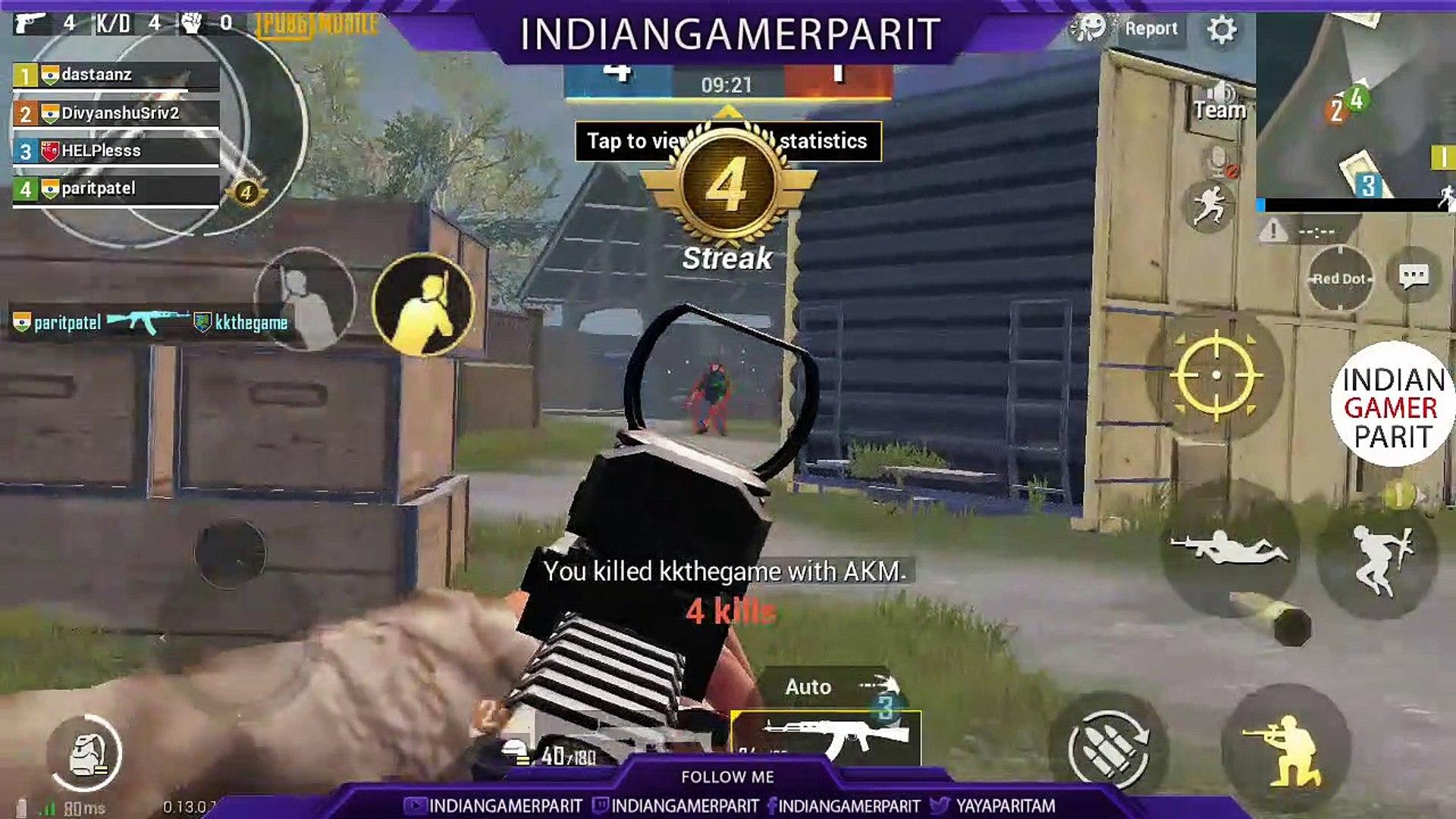 First Ever PUBG Mobile TDM (TEAM DEATHMATCH) || PUBG Mobile TDM #1 || Indian Gamer Parit