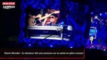 Stevie Wonder : le chanteur fait une annonce sur sa santé en plein concert (vidéo)