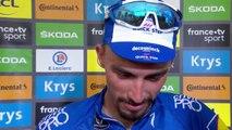 Tour de France 2019 : Julian Alaphilippe très ému après sa victoire