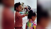 Chicago West Brushes North's Hair-