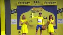 Tour de France 2019 : Le podium de Julian Alaphilippe qui se pare de jaune