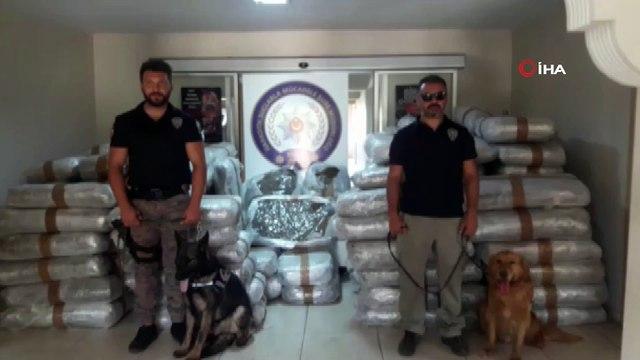 Piyasa değeri 50 milyon lira değerinde 1,5 ton uyuşturucu madde ele geçirildi