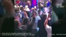 Nate Diaz et Khabib Nurmagomedov pas loin de se battre dans le public de l'UFC 239