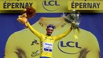 Alaphilippe endosse le maillot jaune du Tour de France