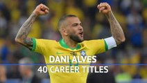 Dani Alves reaches 40th title milestone