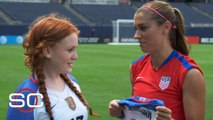 Alex Morgan, USWNT fulfill Mackenzie's wish ahead of Rio Olympics _ My Wish