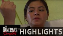 Rhian stabs herself as part of her escape plan  | The Generals Daughter