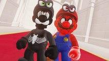 Super Mario Odyssey - Spider Mario - Venom Luigi Final Boss   Darker Side